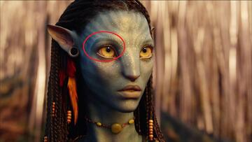 Nur aufgemalt: Die Augenbrauen von Neytiri