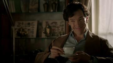 "Benedict Cumberbatch als Sherlock Holmes in der Serie ""Sherlock"""