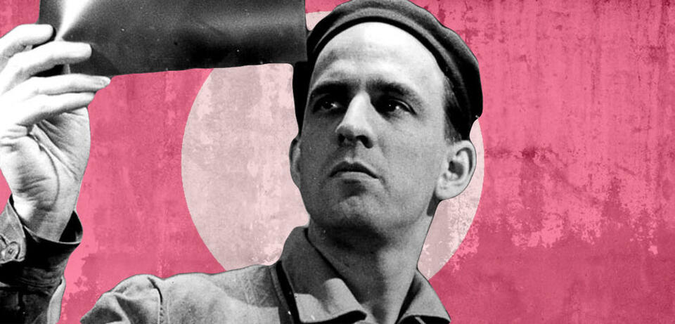 Ingmar Bergman beim Dreh von Wilde Erdbeeren