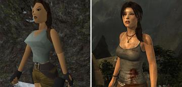 Links: Lara 1996, rechts: Lara 2013