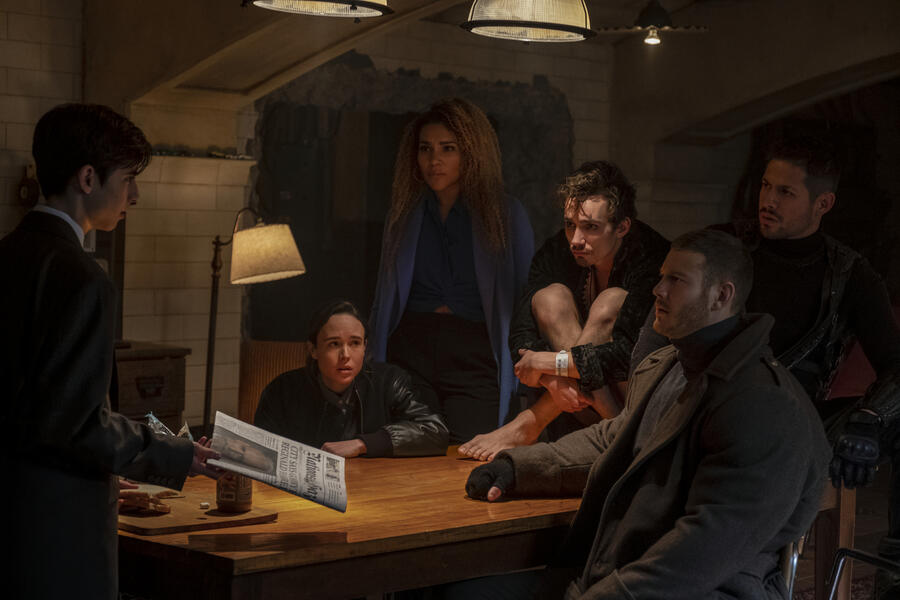 The Umbrella Academy, The Umbrella Academy - Staffel 1 mit Ellen Page, Robert Sheehan, Tom Hopper und Aidan Gallagher