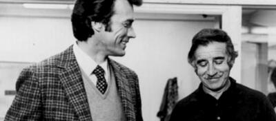 Clint Eastwood und Don Siegel am Set von Dirty Harry