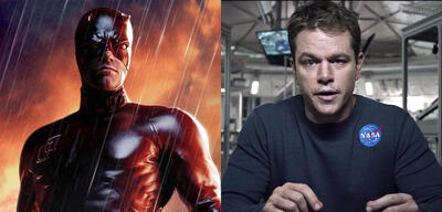 Ben Affleck als Daredevil und Matt Damon als Marsianer