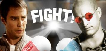 Bild zu:  Sam Rockwell tritt gegen Woody Harrelson in den Ring