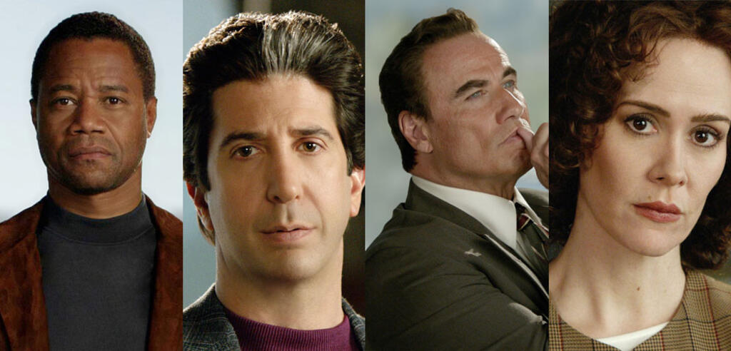 Cuba Gooding Jr., David Schwimmer, John Travolta und Sarah Paulson in American Crime Story
