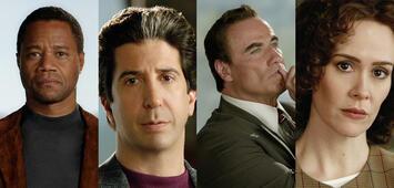 Bild zu:  Cuba Gooding Jr., David Schwimmer, John Travolta und Sarah Paulson in American Crime Story
