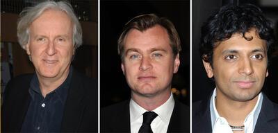 Die Regisseure James Cameron, Christoper Nolan &M. Night Shyamalan