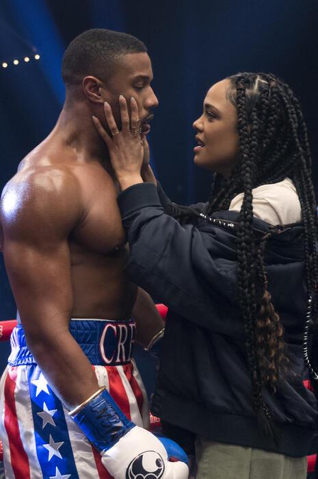 Creed II mit Michael B. Jordan und Tessa Thompson