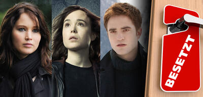 Jennifer Lawrence in Silver Linings / Ellen Page in X-Men: Zukunft ist Vergangenheit / Robert Pattinson in Breaking Dawn 2