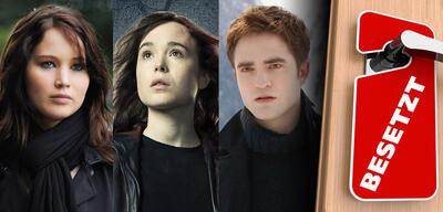 Jennifer Lawrence in Silver Linings / Ellen Page in X-Men: Zukunft ist Vergangenheit/ Robert Pattinson inBreaking Dawn 2