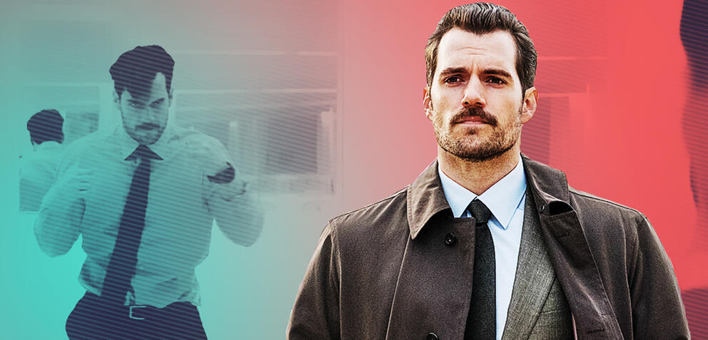 Henry Cavill mit Schnurrbart in Mission: Impossible 6 - Fallout