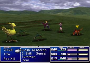 Final Fantasy VII wechselte bei einer Zufallsbegegnung in einen separaten Kampfbildschirm