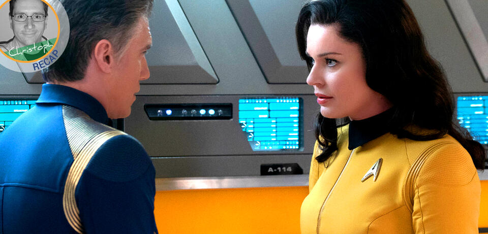 Captain Pike und Number One in Star Trek: Discovery