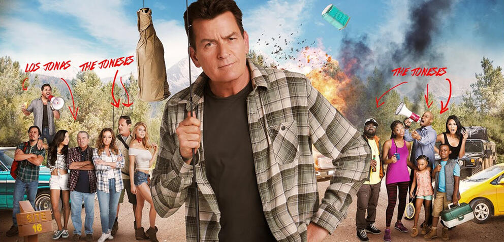 Mad Families:Charlie Sheen und Leah Remini