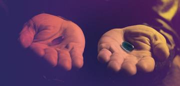 Rot oder Blau: Ach, wenn die Wahl wie in Matrix doch immer so eingeschränkt einfach wäre!