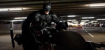 Batman auf seinem Batpod