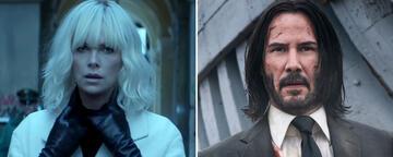 Charlize Theron in Atomic Blonde und Keanu Reeves in John Wick 3