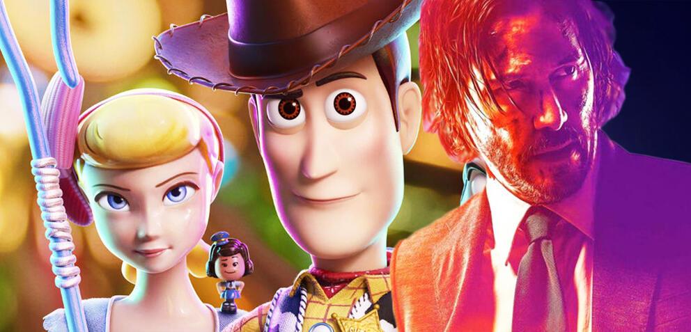 Toy Story 4 und John Wick