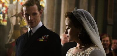 Claire Foy und Matt Smith in The Crown