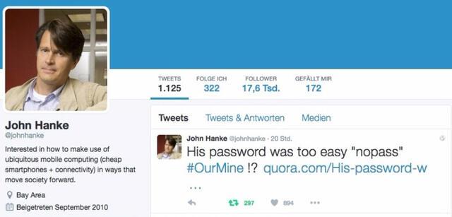Wenn er wirklich dieses Passwort hatte...
