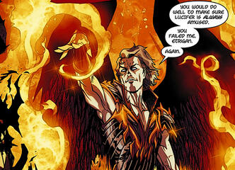 Lucifer erfreut sich an Etrigans Schmerzen