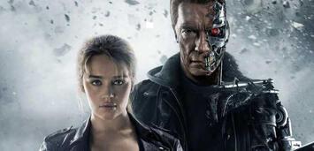 Bild zu:  Emilia Clarke und Arnold Schwarzenegger
