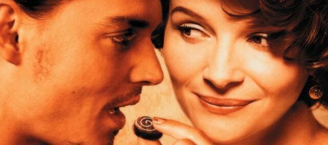 Johnny Depp und Juliette Binoche in Chocolat