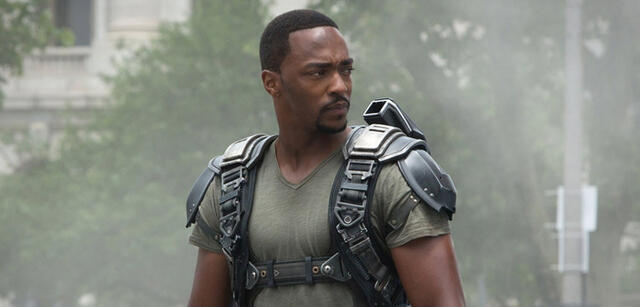 Anthony Mackie als Falcon in The First Avenger: Civil War