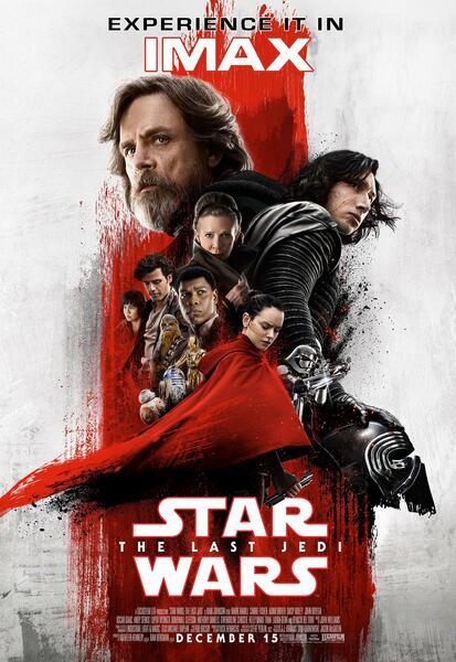 Star Wars 8 Neues Imax Poster Zeigt Rey Im Blutroten Cape