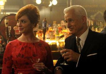 Christina Hendricks und John Slattery in Mad Men