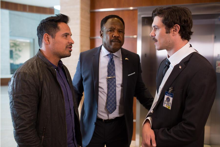 CHiPs mit Michael Peña, Dax Shepard und Isiah Whitlock Jr.