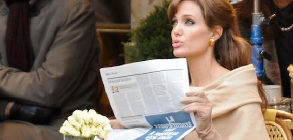 Angelina Jolie am Set von The Tourist