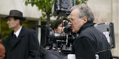 Michael Mann am Set von Public Enemies