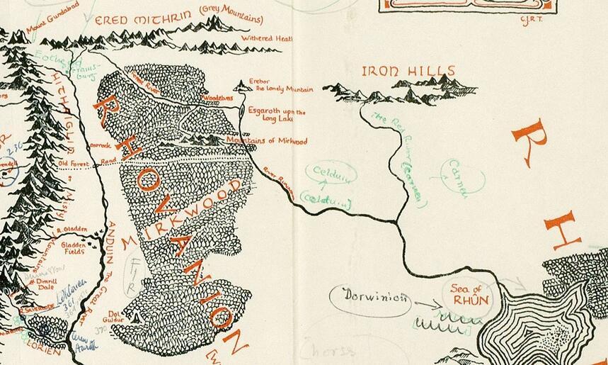 Mittelerde Karte Komplett.Neue Erkenntnisse Mittelerde Karte Mit Anmerkungen Von Tolkien Entdeckt