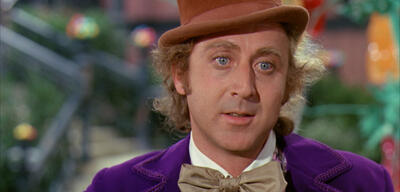 Willy Wonka in Gestalt von Gene Wilder