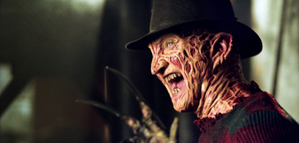 Noch trägt Freddy Krueger die Maske...