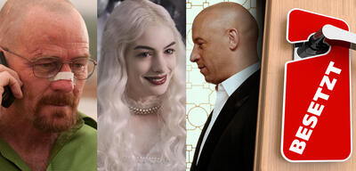 Bryan Cranston in Breaking Bad/Anne Hathaway in Alice im Wunderland/Vin Diesel in Fast & Furious 7