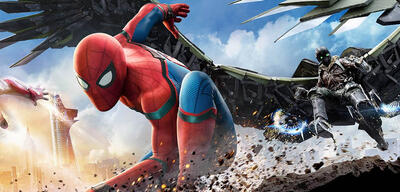 Spider-Man und Vulture in Spider-Man: Homecoming