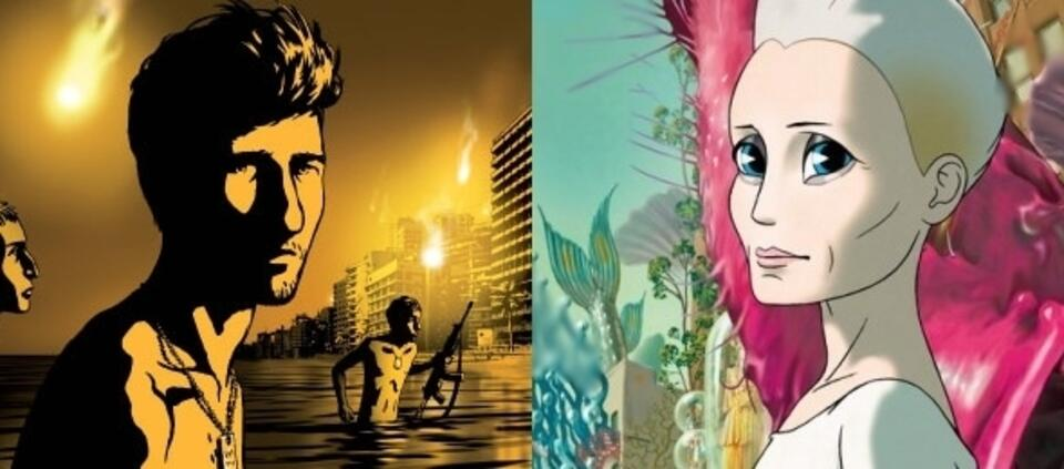 Ari Folman in Waltz with Bashier & Robin Wright in Der Kongress