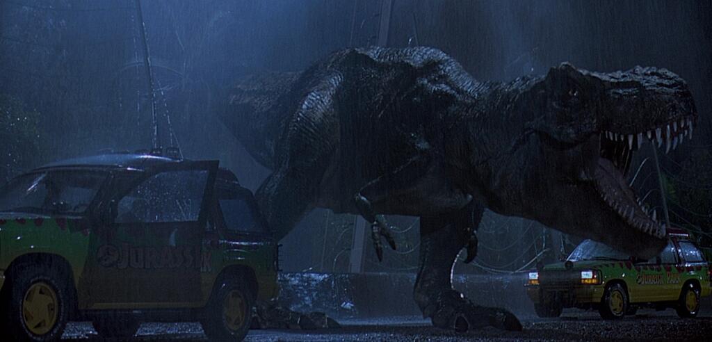 Erster Auftritt des T-Rex im Jurassic Park