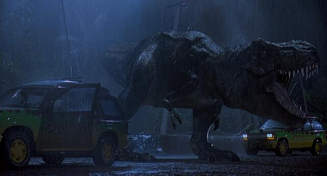 Erster Auftritt des T-Rex (Jurassic Park) (© Universal)