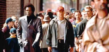 Unbreakable - Samuel L. Jackson als Mr. Glass, Bruce Willis als David Dunn