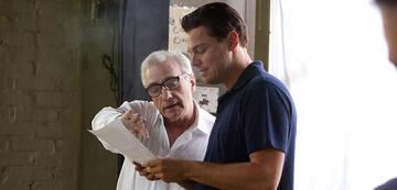 Martin Scorsese und Leonardo DiCaprio am Set von The Wolf of Wall Street