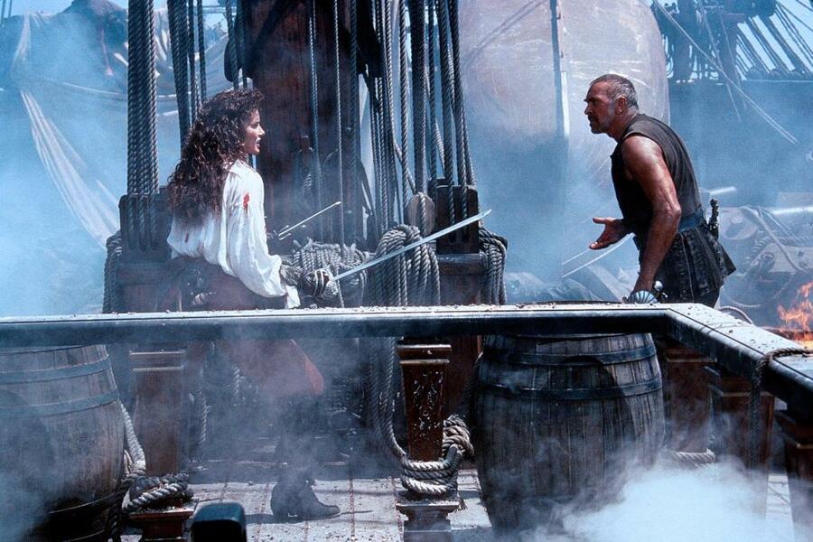 Die Piratenbraut mit Geena Davis und Frank Langella