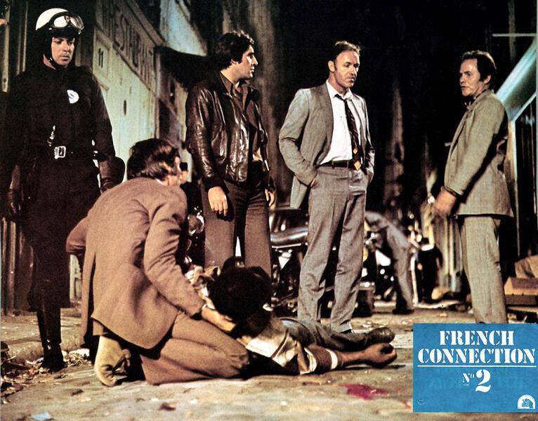 French Connection 2 mit Gene Hackman und Jean-Pierre Castaldi - Bild 2 von 3
