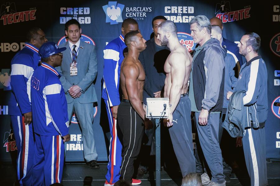 Creed II mit Michael B. Jordan und Florian Munteanu
