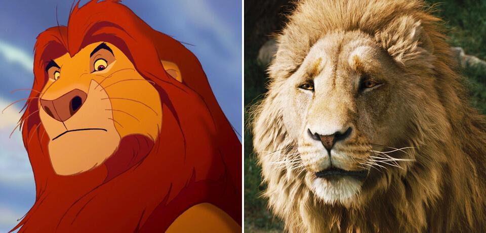 Mufasa, der König der Löwen / Aslan,der König von Narnia