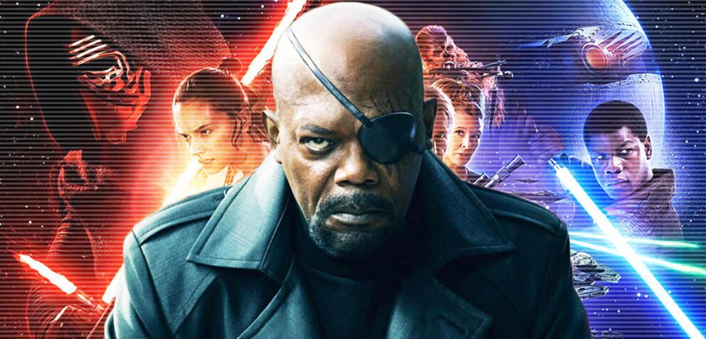 Samuel L. Jackson ist gleichermaßen aus Star Wars und dem MCU bekannt.