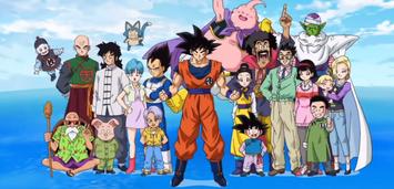 Bild zu:  Wieder vereint: Die Hauptcharaktere aus Dragon Ball Super