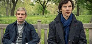 Bild zu:  Sherlock: Martin Freeman und Benedict Cumberbatch